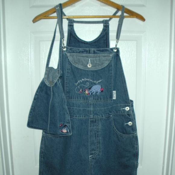 9a5561f568c Women's Vintage Disney Winnie The Pooh Shortalls